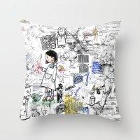 Sketches Throw Pillow