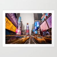 Times Square In A Long E… Art Print