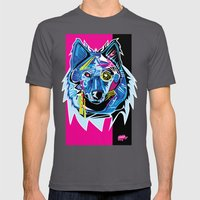 Lazer Wolf Mens Fitted Tee Asphalt SMALL