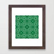 Green Monochrome Geoemtr… Framed Art Print