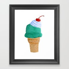 Ice Cream Cone Framed Art Print