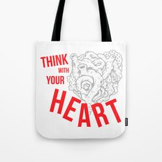 Think With Your Heart Tote Bag