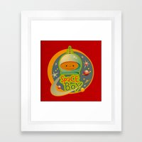 SPACE BOY Framed Art Print