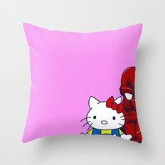 Hello... Throw Pillow