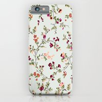 iPhone & iPod Case featuring floral vines - neutrals by threequalsquare