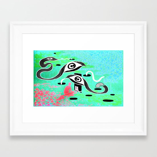"""The Terror"" by Steven Fiche Framed Art Print"