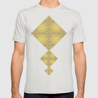 Random rope on gold foil Mens Fitted Tee Silver SMALL