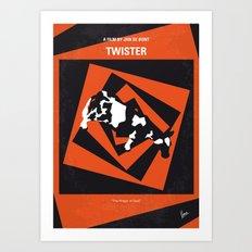 No560 My Twister minimal movie poster Art Print