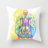 Brain Skeleton Throw Pillow