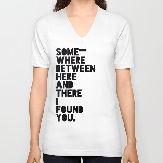 Here & There V-neck T-shirt
