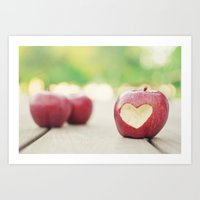 Love apple Art Print