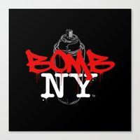 BOMB NY Canvas Print