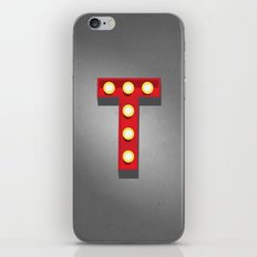 T - Theatre Marquee Letter iPhone & iPod Skin