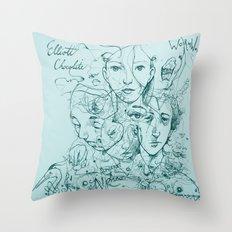 Elliott Chocolate Wormwood Throw Pillow