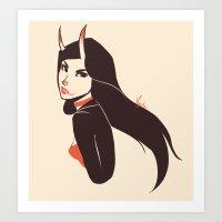 Pretty Lady I Saw On The… Art Print