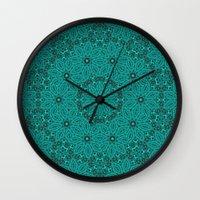 Beautiful Mandala In Tea… Wall Clock
