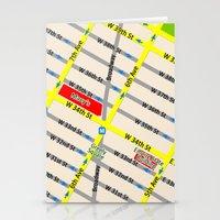 New York Map Design - Em… Stationery Cards