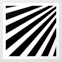 Black And White Stripes Art Print