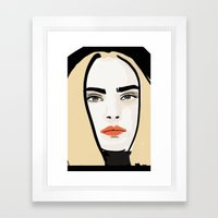 Cara Framed Art Print