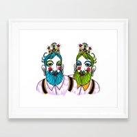 Crown Beard Twins Framed Art Print