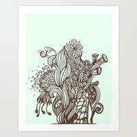 Mint Chocolatey  Art Print