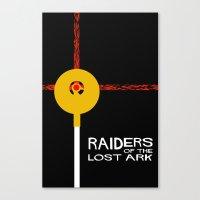Raiders of the Lost Ark Minimal Movie Poster Canvas Print