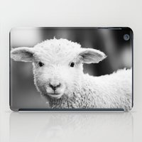 Lamb in Black and White iPad Case