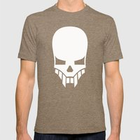 Sinister Skull Mens Fitted Tee Tri-Coffee SMALL