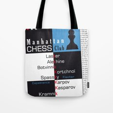 Manhattan Chess Club Poster Tote Bag