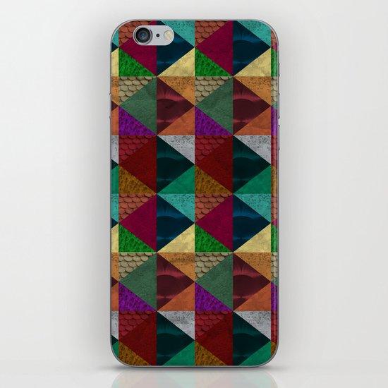 Cylinders and Bricks iPhone & iPod Skin