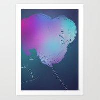 Colorful mind. Art Print