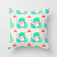 PikachuPattern Throw Pillow