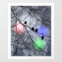 Polar Crows Art Print