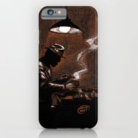 iPhone Cases featuring Noir Bar by David Miley