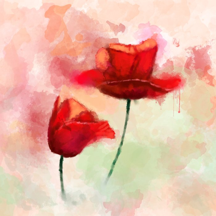 Book Cover Watercolor Red ~ Red poppy watercolor painting duvet cover by thubakabra