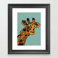 Worlds Tallest Horse. Framed Art Print