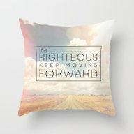 Job 17:9 Moving Forward Throw Pillow