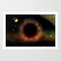 BLACK HOLE SUN - 047 Art Print