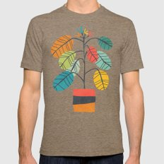 Potted plant 2 Mens Fitted Tee Tri-Coffee SMALL