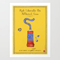Gay Ointment: LGBT Poster (Yellow) Art Print