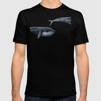 The Whale Who Met  Itself. Mens Fitted Tee Black SMALL