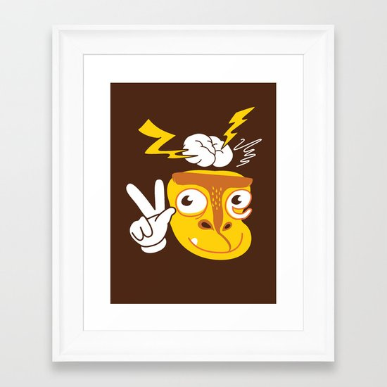 Vote Munkey Framed Art Print