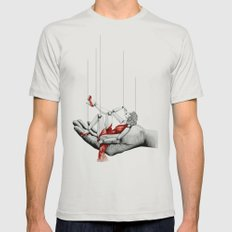 Lady in Red Mens Fitted Tee Silver SMALL