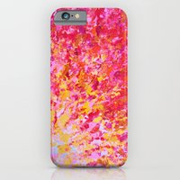 ROMANTIC DAYS - Lovely Sweet Romance, Valentine's Day Sweetheart Pink Red Abstract Acrylic Painting iPhone 6 Slim Case