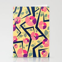 Blooming Trees Pattern Stationery Cards