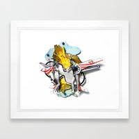 Speed Date | Collage Framed Art Print