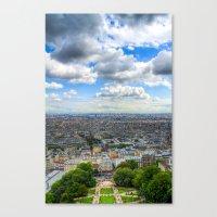 Paris From The Sacre Cou… Canvas Print