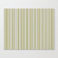 Lines 32 Gold on Platnium Canvas Print