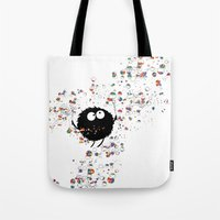 Blowing rainbow bubbles Tote Bag