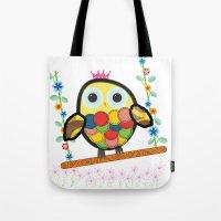 Swinging Owl Tote Bag
